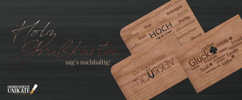 Holzgrußkarten